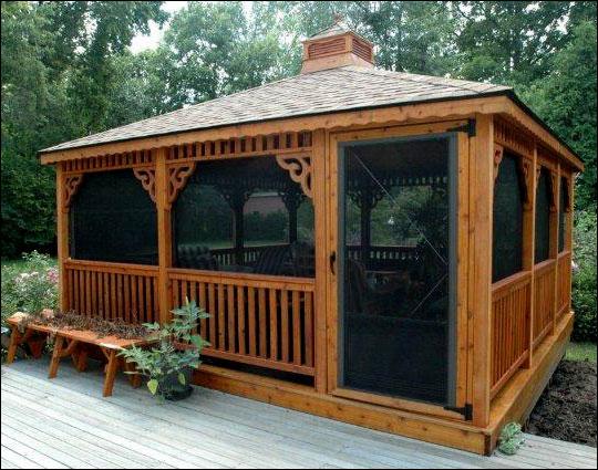 Costco Complete Id >> Customer's Photo - 16' x 16' Cedar Rectangular Gazebo