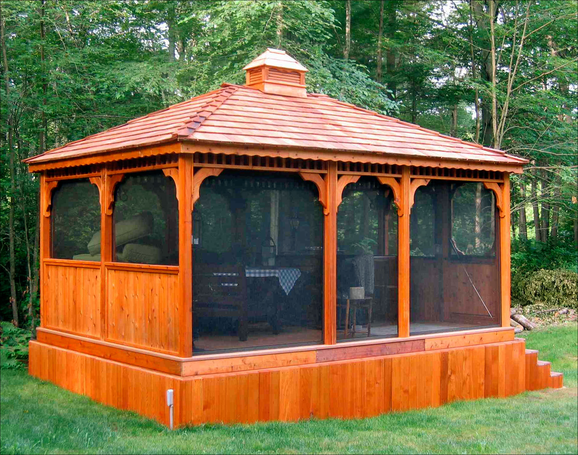 Customer S Photo Custom 12 X 16 Cedar Rectangular Gazebo