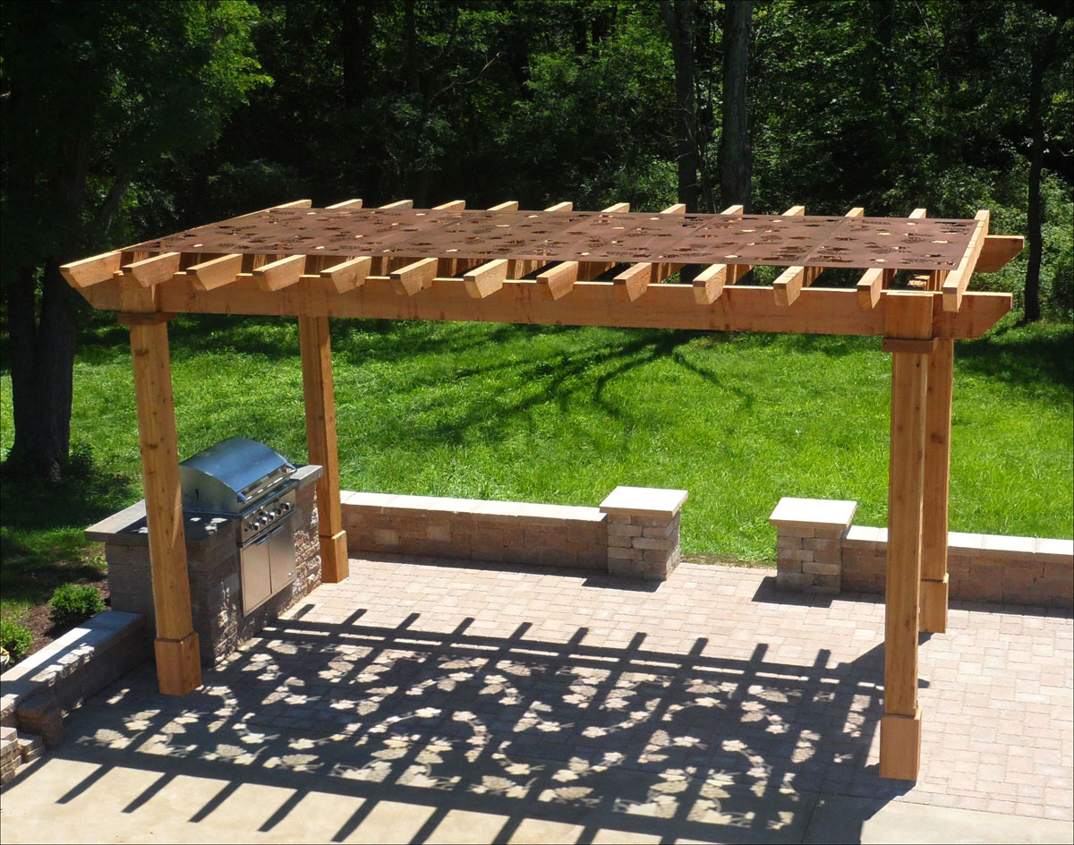 Customers Photo Custom 9 x 17 Rough Cut Cedar Oasis Pergola
