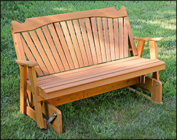 Porch Gliders with Optional Staining & Patio Glider | Porch Rocker Gliders