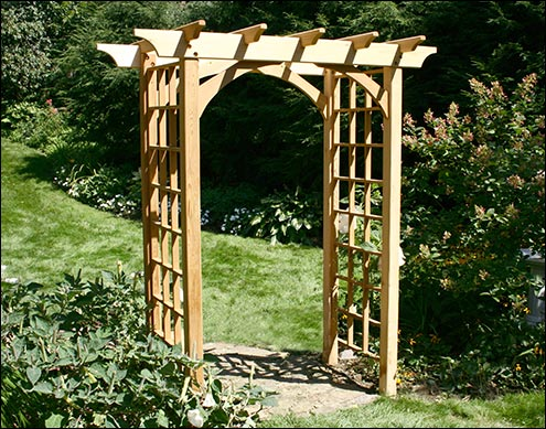 Homemade Arbors http://www.cedarstore.com/spl/category/arbors-trellises/42