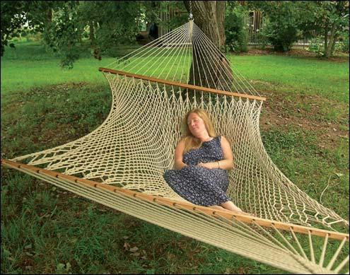 stratford silkspun rope hammock