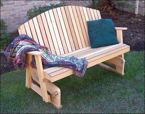 patio bench glider plans