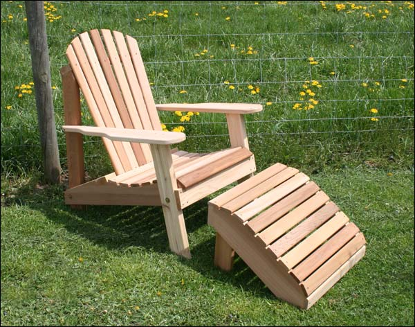 alternate views of cedar american forest adirondack chair footrest set. Black Bedroom Furniture Sets. Home Design Ideas