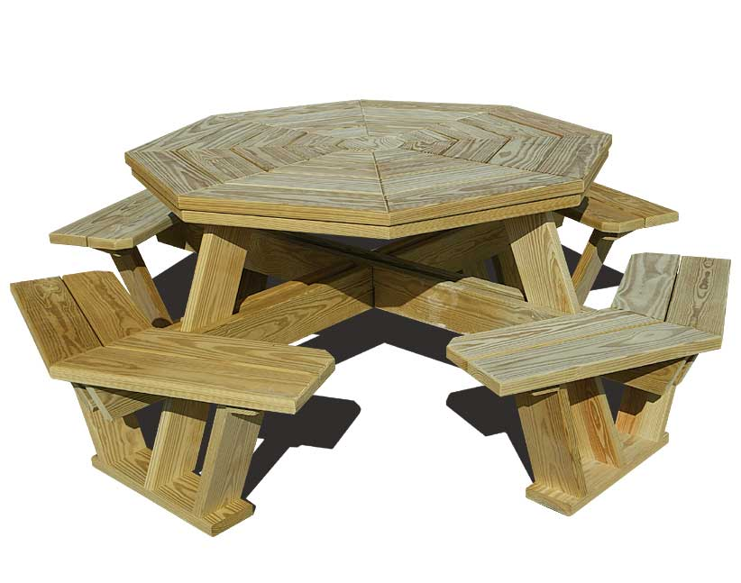 building plans hexagon picnic table
